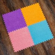 Детский игровой коврик-пазл с ворсом,  мягкий и тёплый пол для ребёнка