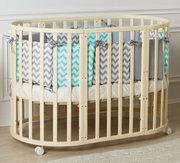 Стильные детские круглые кроватки 3в1 Incanto Gio от дизайнеров